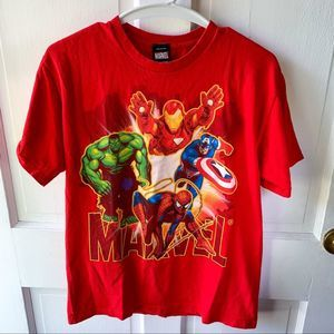 Marvel Red Character Graphic Short Sleeve T-Shirt